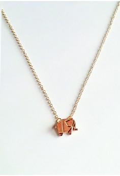 Geometric Elephant Necklace