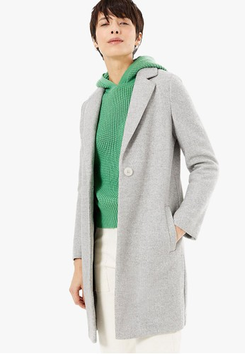 MARKS & SPENCER grey Single Button Chuck On Coat 2EC20AA187AE1AGS_1
