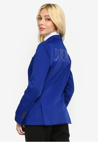 Sacoor Brothers blue Classic Slim Fit Women's Blazer 206A0AAA28C851GS_1