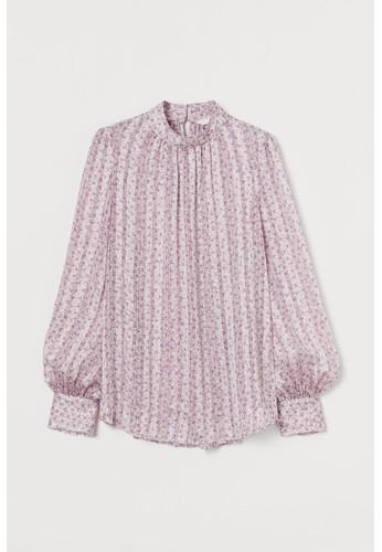 H&M pink Wide blouse 08DAAAA0450AC6GS_1