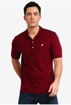 59fd274afa2 Banana Republic red Branded Pique Polo Shirt D8A44AA0964E7FGS 1