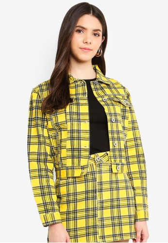 Factorie yellow Co-Ord Denim Jacket 88302AAF20D054GS_1