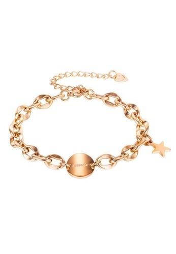 CELOVIS gold CELOVIS - La Suerte Lucky Star Round Tag Pendant in Rose Gold B14F6AC0476C59GS_1