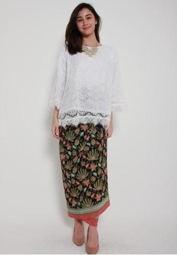 Naphthys Collection black and pink and multi Batik Skirt/Sarong 2BDB5AA5581738GS_1