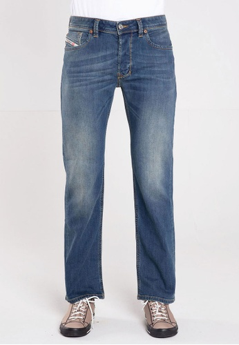 Diesel blue LARKEE L.30 PANTALONI Straight Cut Jeans 056E3AA2876733GS_1
