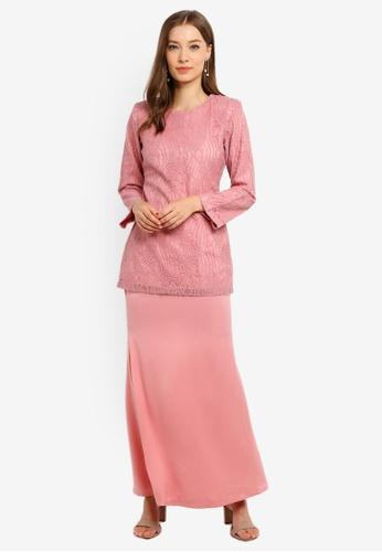 Butik Sireh Pinang pink Baju Kurung Moden Elena 6C7CDAABFAF17AGS_1