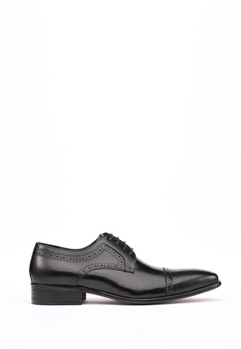 Kings Collection black Truman Oxford Shoes 28F5ASH2CCE2B1GS_1