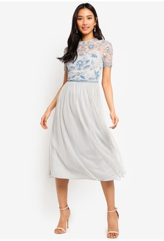 478382920 Frock and Frill blue Embellished Top Dress ED8B3AA37B5995GS_1
