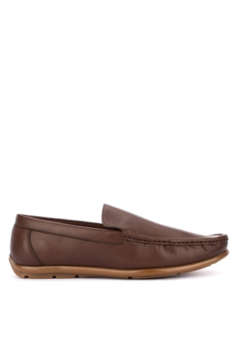Italianos brown Roman Loafers D2AFBSH0E4C0F8GS_1