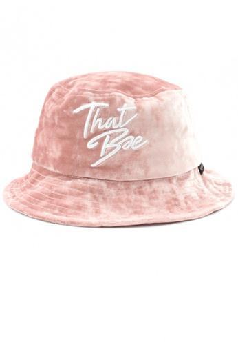 DOSSCAPS pink FLIPPER Hypebae Thatbae Bucket Hat (Pink) 2A3F7AC173CBBEGS_1