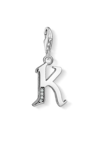 "THOMAS SABO silver Charm pendant ""letter K silver"" C8418AC369D475GS_1"