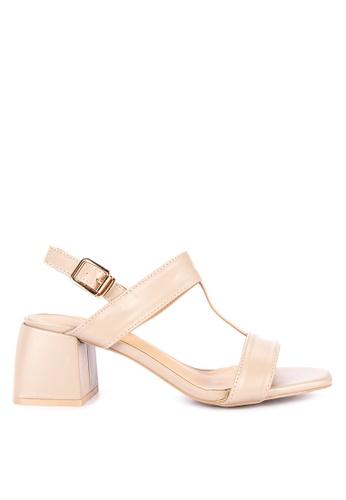 f42b362e1f79 Shop Matthews Kelly T-Strap Heeled Sandals Online on ZALORA Philippines