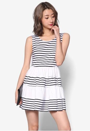 海軍風條紋傘擺洋裝, 服飾, esprit台灣官網洋裝