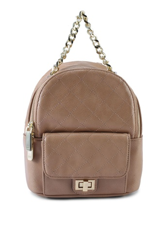Nose beige Quilted Backpack C5E0BACFD4B462GS_1