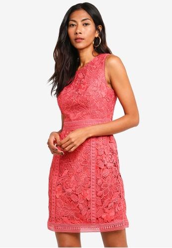 Forever New red Callista Lace Trim Dress 3012FAA5BD31D8GS_1