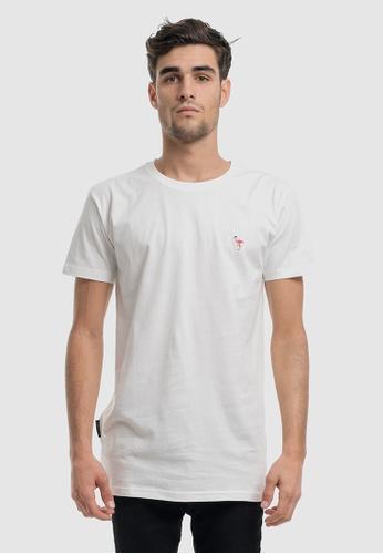 VACANCY CO white Flamingo Embroidery Tee C7D52AA2E62852GS_1