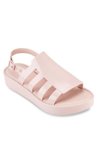 Boemia 側鏤空多帶露趾厚底esprit手錶專櫃涼鞋, 女鞋, 鞋