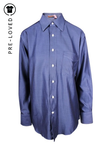 Paul Smith blue Pre-Loved paul smith Blu Men Classic Shirt 92584AA9A7901EGS_1