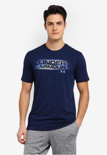 Under Armour navy UA Phase Wordmark T-Shirt UN337AA0SU7DMY_1