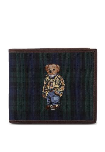 Polo Ralph Lauren navy Tartan Bifold Smooth Leather Wallet 69A0AAC7CA4FC2GS_1