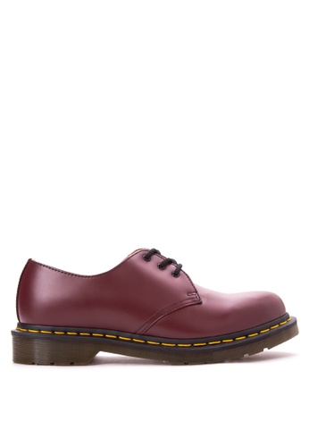 Dr. Martens red 1461-59 Smooth Shoes DR086SH59LDGPH_1