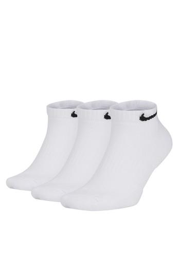 Nike white Unisex Everyday Cushioned Training Low Socks (3 Pairs) 49654ACCA2E1E8GS_1