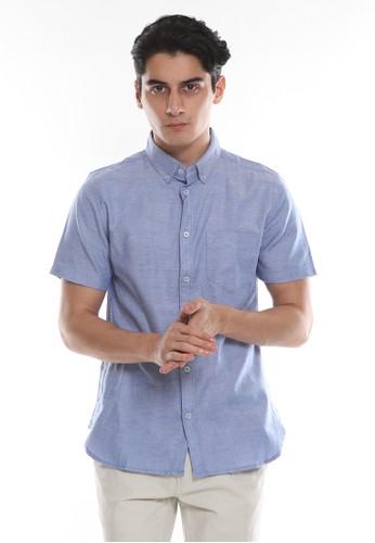 Men's Top blue PAQUETA-BLUE SS Shirt D157BAA8947936GS_1