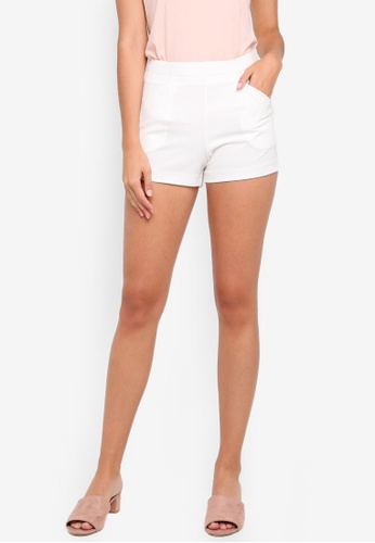Something Borrowed white High Waist Tailored Shorts EAB22AA04F6D89GS_1