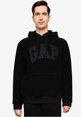 GAP black V-TEDDY LOGO PO HD B6DCDAA161D4ADGS_1