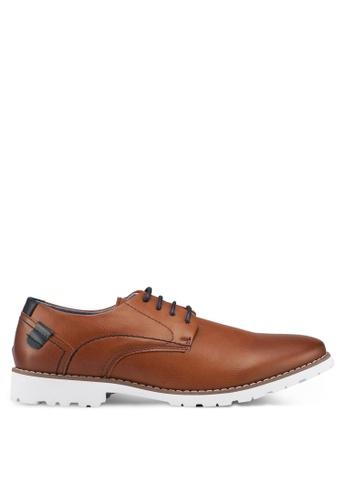 Bata brown Faux Leather Dress Shoes BA913SHF40CC7BGS_1