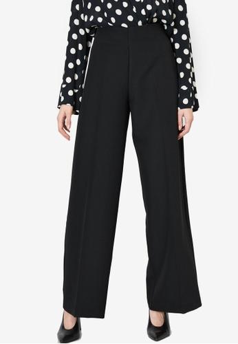 KOTON black Flare Trousers 6FA35AA24DDD7AGS_1