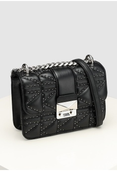 3387c6a87fd4 KARL LAGERFELD Kuilted Studs Crossbody Bag RM 1