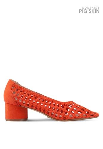 TOPSHOP 褐色 編織高跟鞋 4564FSH7DA63E1GS_1