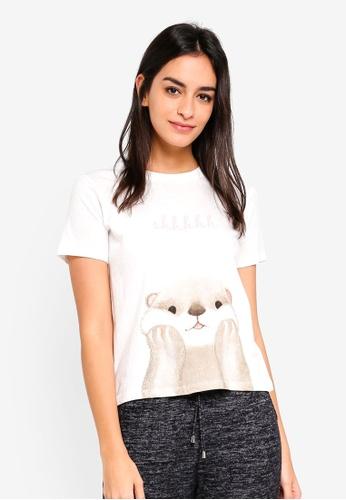 6IXTY8IGHT beige Otter T-shirt 85179AAB8265CEGS_1