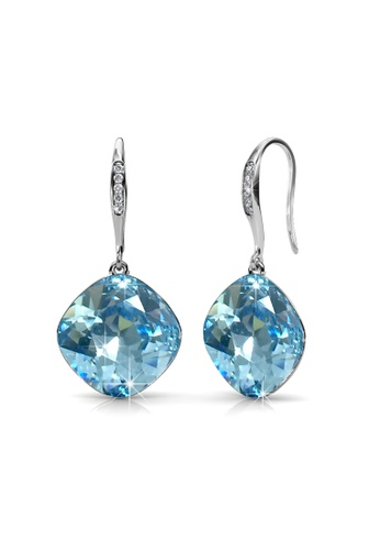 Her Jewellery 藍色 and 銀色 Her Jewellery Tiffy Hook Earrings (Blue) with Premium Grade Crystals from Austria HE581AC0R9WXMY_1