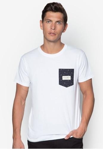 Cascade 碎花口esprit tw袋TEE, 服飾, T恤