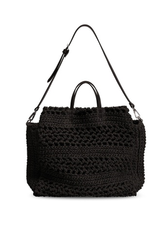 Mango black Raffia Handmade Bag 20E22AC701F3DFGS_1