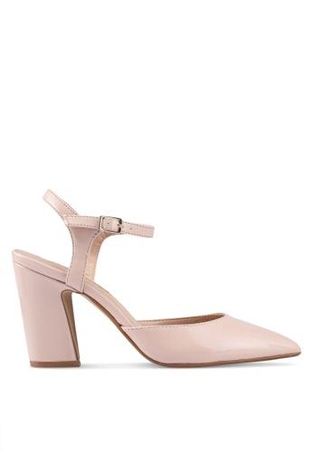 Dorothy Perkins pink Blush Eva Flared Heels C2625SH4E62494GS_1