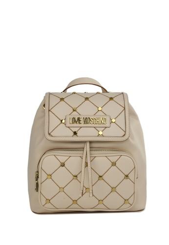 Moschino beige Moschino Backpack 551F8ACA2C7BFFGS_1