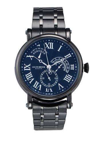 Akribos XXIV black Retrograde Date Watch 3C887AC7B3916FGS_1
