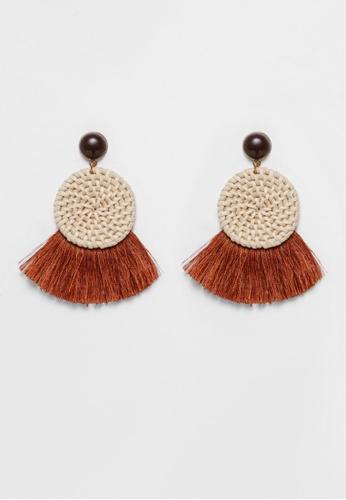 Love, Bonito brown Piera Earrings 6BB62AC0A0ECAAGS_1