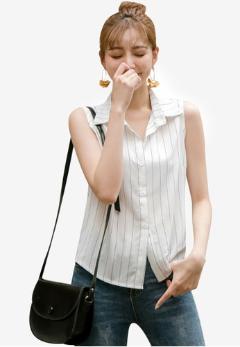 913f712d9cc00c Buy Tokichoi Striped Sleeveless Blouse Online on ZALORA Singapore