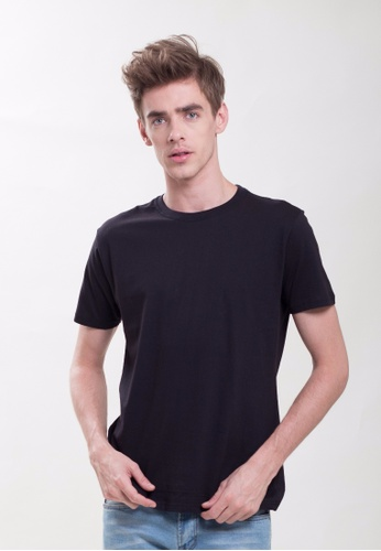 Drum Plain Basic Tee-BLK DR425AA0RYX3MY_1