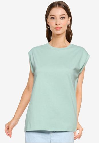 Heather green Knit T-shirt B5C75AA1070835GS_1