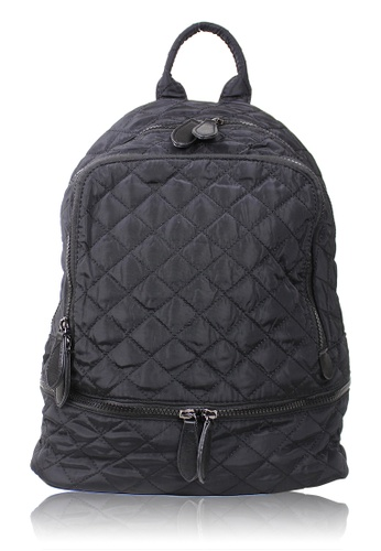 Dazz black Preppy Quilted Nylon Backpack - Black  DA408AC0RA1VMY_1