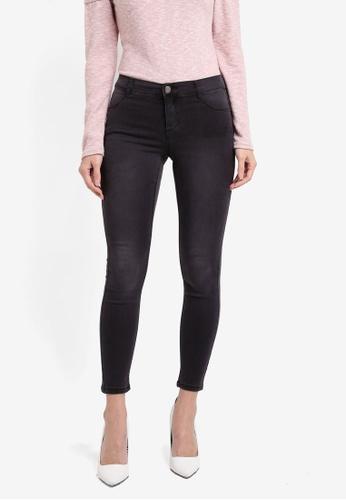 Dorothy Perkins grey Petite Ink Grey Frankie Jeans DO816AA0T04XMY_1