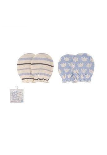 Little Kooma blue Baby Scratch Mittens Set 2 Pairs 52320 - 1006 FE993KC4587617GS_1