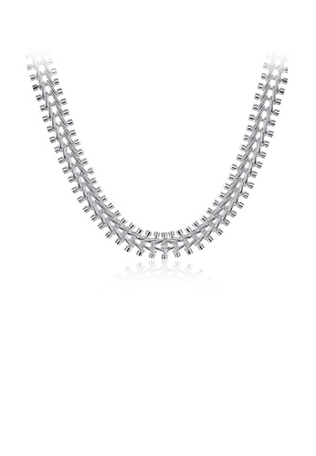 Glamorousky silver Fashion Fish Bone Necklace 799A5AC85FC2AEGS_1