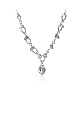 Glamorousky white Simple Heart Flower Key Necklace with Austrian Element Crystal C1DF8AC6F3A986GS_1
