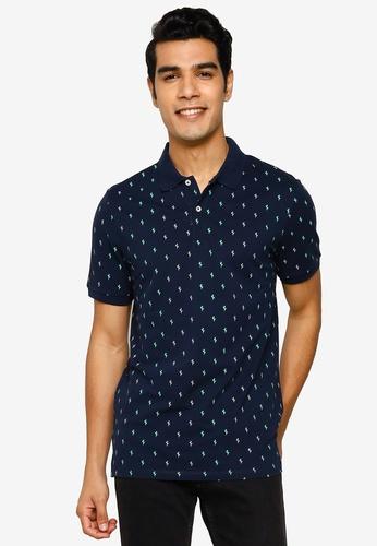 Jack & Jones navy Hagan Short Sleeve Polo Shirt 76B31AA09AAE4CGS_1